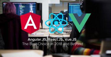 react js vs angular js vs vue js