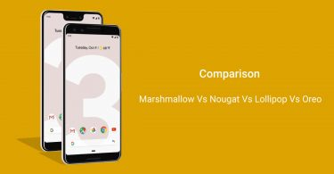 android nougat vs marshmallow vs lollipop vs oreo