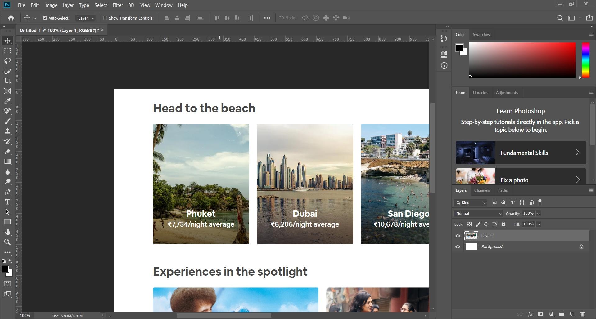 Photoshop Designing Tool
